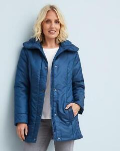 JULIPA Padded Front Metallic Blue Jacket   UK 18  US 14   EUR 46   (FS104-7)