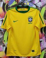 Brazil National Football Team 2010 2011 Home Soccer Jersey Shirt Top Nike Mens M
