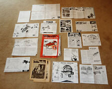 LOT OF 17 COPIES!! TETHER RACE CAR + ENGINE ADS, SPECIFICATION ~ McCOY + HILLER+