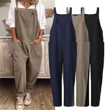 ZANZEA UK Womens Overalls Casual Loose Dungarees Romper Baggy Playsuit Jumpsuit