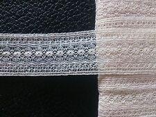 Antique coton fin dentelle tulle insertion Robe Trims Lingerie Craft Artisanat Art