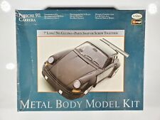 Vintage Burago/Testors Porsche Carrera 911 Metal Model Kit Open Box/Started