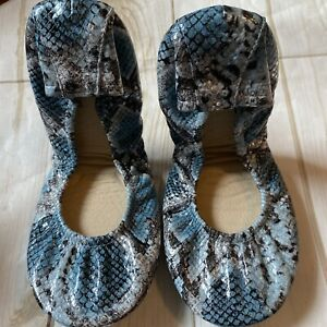 NEW THE STOREHOUSE FLATS 9 Glacier snakeskin Print 2021 Limited edition Leather