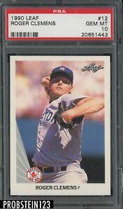 1990 Leaf #12 Roger Clemens Boston Red Sox PSA 10 GEM MINT