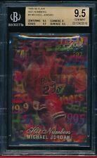 MICHAEL JORDAN 1995-96 FLAIR HOT NUMBERS  INSERT # 4 SP BGS 9.5 GEM HIGH SUBS!