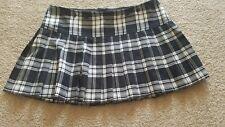 Tripp NYC Black White Plaid Pleated Schoolgirl Mini Skirt Size XL