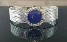 Omega De Ville 18k White Gold Women's Watch 22mm Factory Diamond Blue Lapis Dial