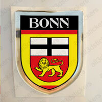 Aufkleber Bonn Deutschland Kfz-Aufkleber Emblem Flagge Wappen 3D Fahne Auto