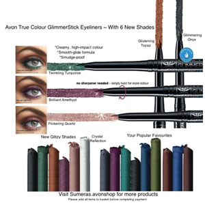Avon GlimmerStick Twist Up Eyeliners ~ 6 BRAND NEW SHADES ~Free P&P ~ Great Gift