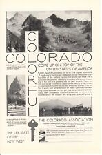 Vintage print advertisement 1930 Colorful Colorado Chicago Basin San Juan region