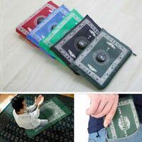 Islamic Travel Prayer Mat with Qibla Compass Pocket Sized Zip Bag Namaz/Salah