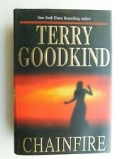 TERRY GOODKIND  true 1st edition CHAINFIRE  667 pages  hardcover + jacket 2005