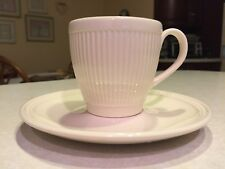 NEW WITHOUT TAG  SET OF 4 WEDGWOOD WINDSOR FLAT CUPS & SAUCERS, MADE IN ENGLAND