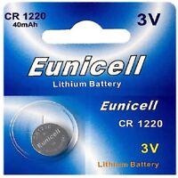 1 x CR1220 3V Lithium Knopfzelle 40 mAh ( 1 Blistercard a 1 Batterie )Eunicell