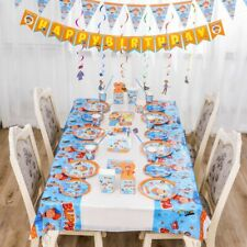 Blippi Balloons Table Cover, Banner Kids Birthday Party Supplies Decorations