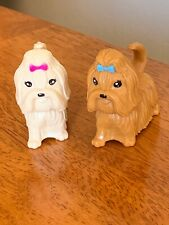 Yorkie Yorkshire Terrier Two Miniature Figurine Pvc 2� Dog Toy
