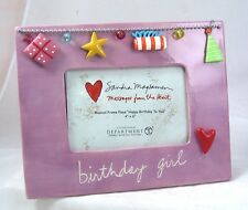 MUSICAL Picture FRAME BIRTHDAY GIRL plays Happy Birthday Dept 56 holds 4x6 NEW