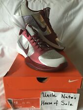 Nike Zoom Kobe V 'Lower Marion Aces', Size 12, DS