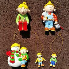 Bob the Builder Christmas Ornaments Lot Wendy Snowman Chapman 2004