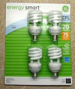 GE Energy Smart CFL 20-Watt (75-watt replacement) 4-Pack 75925