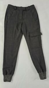Women Zoe Jordan Grey Wool Trackpants Style Trousers Loose Style UK 8 10 Used