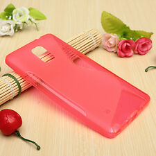 HOUSSE ETUI COQUE SILICONE GEL ROSE SAMSUNG GALAXY NOTE 4