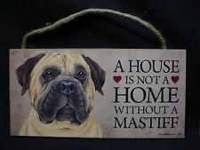 Bull Mastiff A House Is Not A Home Dog wood Sign wall Plaque Bullmastiff puppy