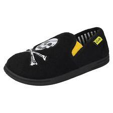 Boys Clarks Comfort Slip on Pirate Slippers Spencer Boy UK 11 Kids Black G