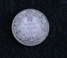 1930 Canada 25 Cents, Circulated, .800 Silver, G-4