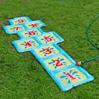 Inflatable Garden Hop Scotch Water Sprinkler Summer Fun Game Swimming Pool Toy