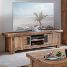 MOBILE PORTA TV INDUSTRIAL ETNICO VINTAGE COUNTRY CHIC LEGNO MASSELLO TEAK 160CM