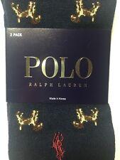 POLO RALPH LAUREN Men's Navy Blue Polo Socks 2 Pairs NWT