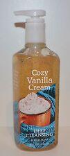 NEW BATH & BODY WORKS COZY VANILLA CREAM DEEP CLEANSING HAND SOAP WASH 8OZ BEAN