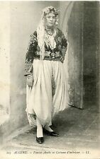 CARTE POSTALE / POSTCARD / ALGERIE / FEMME ARABE EN COSTUME INTERIEUR