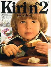 PUBLICITE ADVERTISING 064  1970  BEL  fromage KIRI  n°2   AU JAMBON