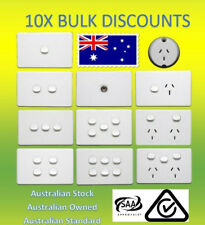 10X 10 Amp 240V Double Power Point Socket Outlet GPO Wall Light Switch