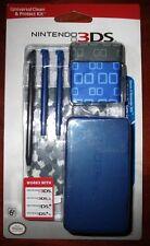3DS-3DSXL-DSi-DSiXL Nintendo Universal Clean & Protect Kit -Blue-Factory Sealed!