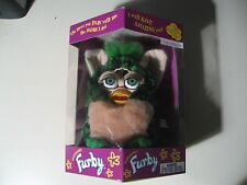 "6"" electronic Green Furby doll, by Tiger Electronics 1999, Brand New and Sealed"