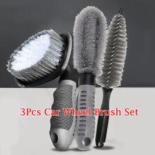 3Pcs Car Wheel Brush Set Tire Cleaning Washing Multi-Functional Bristle Tool New