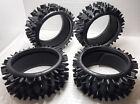 Tire/Foam SET (4PCS) For Duratrax Firehammer Smartech Carson XTM 1/5 RC BUGGY