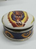 """Lady of Guadalupe Virgin Mary Ceramic Trinket Jewelry Box Round  3.5"""""""