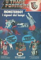 X4242 Monsterbot - TransFormers - GIG - Pubblicità 1988 - Advertising