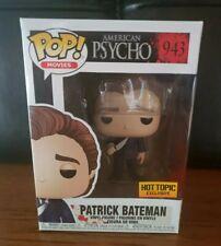 Funko Pop! American Psycho Patrick Bateman #943 Hot Topic Exclusive w/ Protector