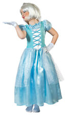 Eisprinzessin Kostüm für Kinder Elsa Eiskönigin Glitzer Märchenkleid Fasching