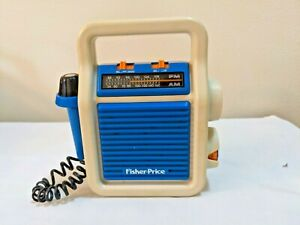 Vintage 1984 Fisher Price My First AM/FM Sing-Along Radio w/ Mic Works Great!!!