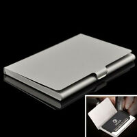 New Stainless Pocket Business Name Credit ID Card Holder Metal Box Case