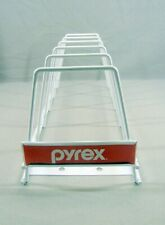 Vintage Pyrex Advertising Stand Rack Store Display Sign Dish Pie Plate Bowl