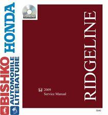 Bishko OEM Digital Repair Maintenance Shop Manual CD for Honda Ridgeline 2009