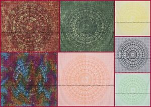 Elephant Mandala Tapestry Indian Cotton Bedspread Wall Hanging Blanket Twin Size