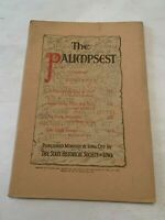 1945 The Palimpsest Magazine Historical Society Iowa Independence Day in 1845